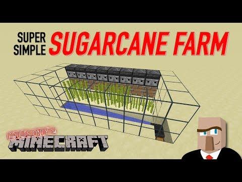 REDSTONE SUGARCANE FARM - Easy and Automatic Design: Minecraft