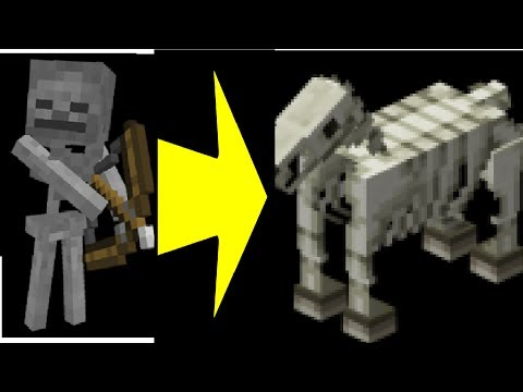 how to get a skeleton to ride a skeleton horse in minecraft