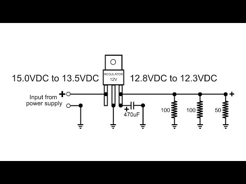 12 VDC Voltage Regulator how does it function in circuit