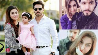 Wahaj Ali with his beautiful wife and daughter looking amazing. .