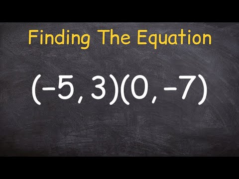 How to find the equation of a line given two points