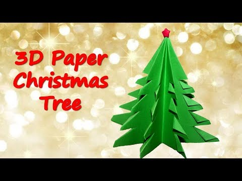 How to make a 3D Paper Christmas Tree Origami