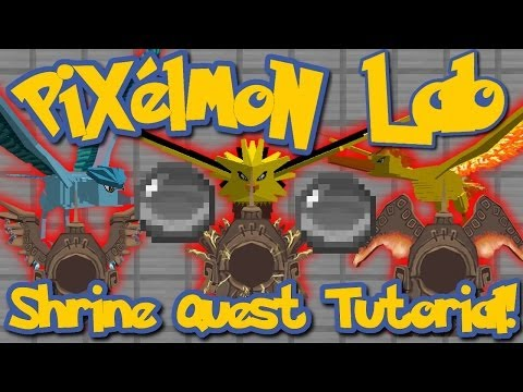 Pixelmon Lab: Legendary Bird Shrines/Quest Tutorial!