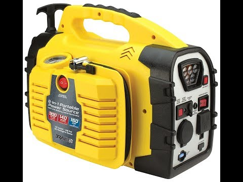 Review:  Rally Portable 8 in 1 Power Source and Jumpstarter Unit with Hand Generator