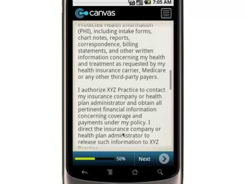 Canvas Medical Release Form   Generic Template   Mobile App
