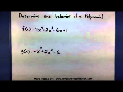Pre-Calculus Determine the end behavior of a Polynomial