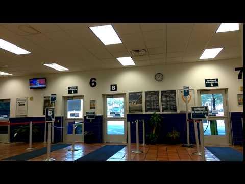 Inside Greyhound station in Jacksonville