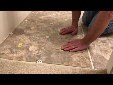 Luxury Vinyl Tile Installation Step 4: Lay the Tiles