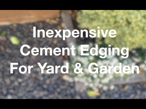 Inexpensive Cement Edging For Yard & Garden - AnOregonCottage.com