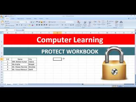 WORKBOOK PROTECTION IN MS EXCEL IN HINDI