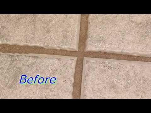 How to clean grout between floor tiles