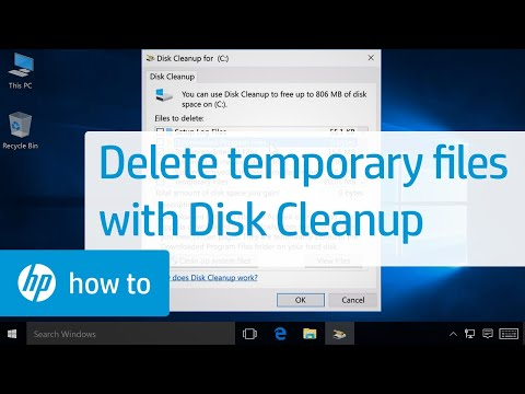 Deleting Temporary Files with Disk Cleanup in Windows