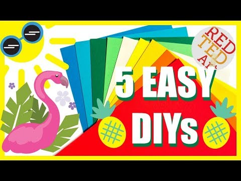 5 SUMMER Room Decor DIYs you NEED to make - PAPER Room Decor DIY for Summer