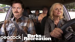 Leslie Rounds up Ron Swanson and the Team - Parks and Recreation