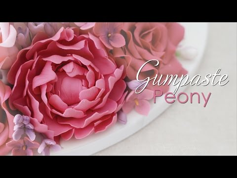 Gumpaste Peony - Cake Decorating Tutorial