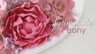 Gumpaste Peony Cake Decorating Tutorial