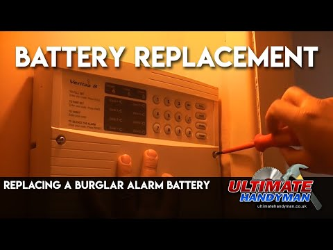 Replacing a burglar alarm battery
