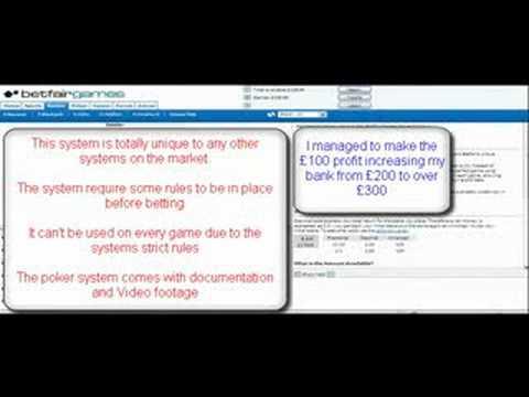 Betfair Poker System for Ebay