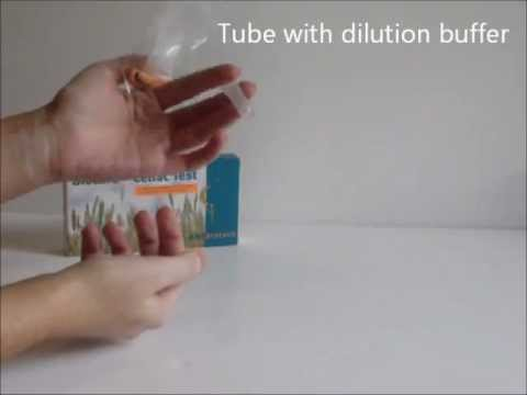 Biocard Home Celiac/Coeliac Test for specific gluten intolerance (Demonstration Video)