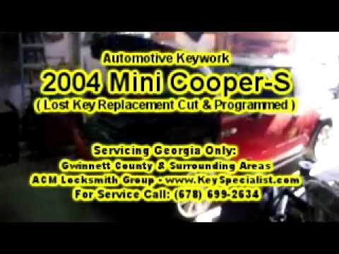 2004 Mini Cooper S - Lost Key Replacement Made & Programmed! Locksmith Duluth GA