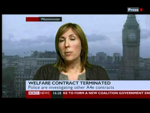 A4E SACKED FROM UK GOVERNMENT CONTRACTS GETTING UNEMPLOYED JOBS