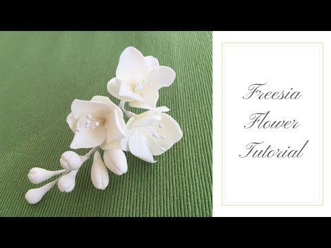 How to make a FREESIA FLOWER | Ilona Deakin at Tiers Of Happiness