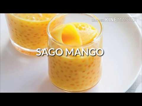 Sago mango/sabudana with mango/mango lassi/how to make lassi/coconut sago