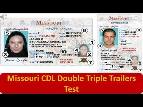 Missouri CDL Double Triple Trailers Test