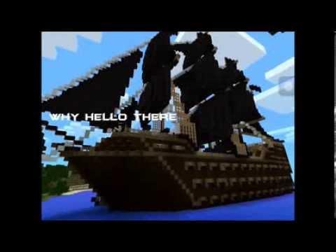 Minecraft PE Pirate Ship Battle Machinima !