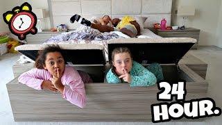 Download I SPENT THE NIGHT IN MY PARENTS BEDROOM!! 24 Hour Challenge Video