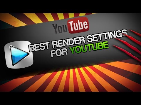 Sony Vegas Pro 13: Best Render Settings for YouTube | 60fps | 1080p | HD