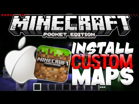 HOW TO INSTALL CUSTOM MAPS in Minecraft PE [iOS] - Download Maps in MCPE (Pocket Edition)