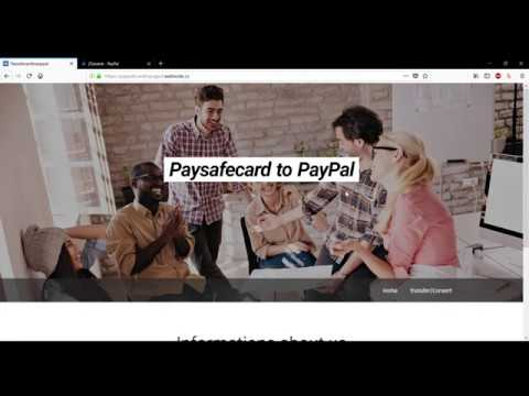 How to transfer Paysafecard to PayPal in 2018