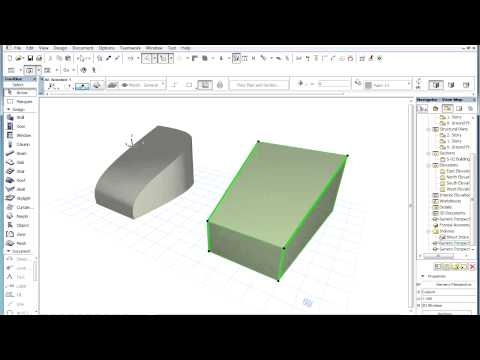 The ARCHICAD MORPH Tool - Curving and Merging Edges of a MORPH