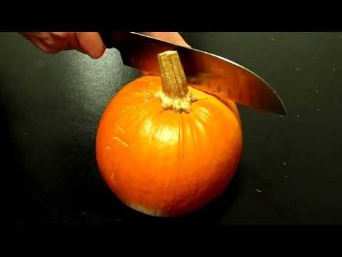 How to carve a pumpkin in less than 30 seconds! Wow!