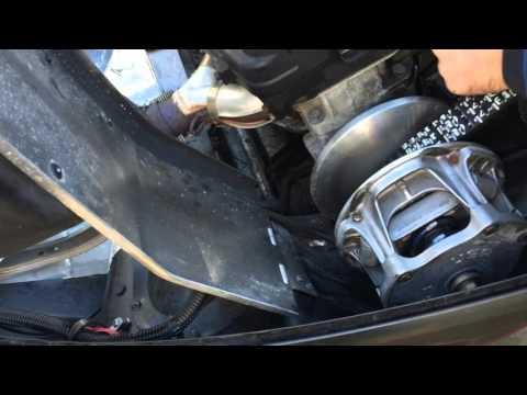 Snowmobile Maintenance Polaris RMK 550