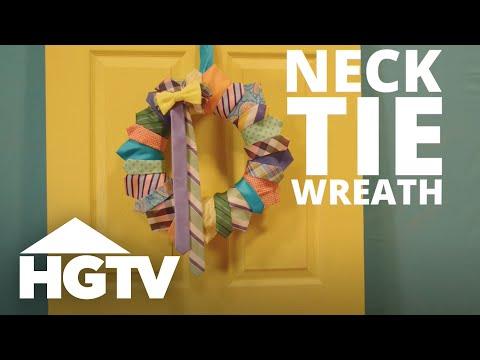 DIY Necktie Wreath - HGTV