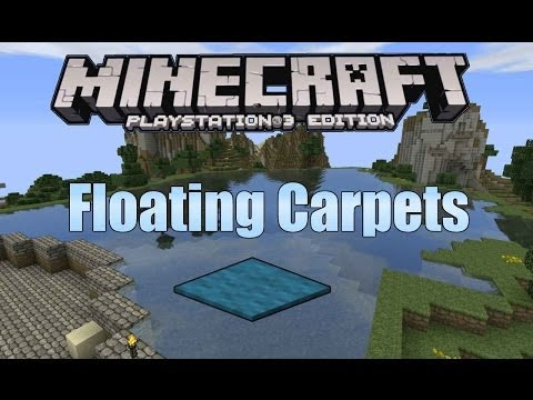 Minecraft PS3: Floating Carpets on Water *GLITCH*