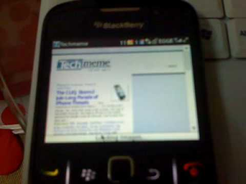 Test load Techmeme.com in Blackberry Curve 8520 with Celcom EDGE connection