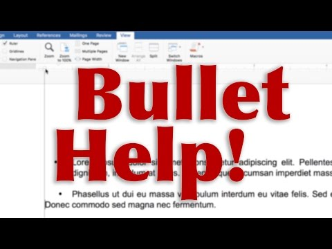 How to fix bullets in Microsoft Word - TUTORIAL - QUICK FIX