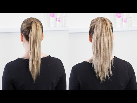 Pony tail with extra volume