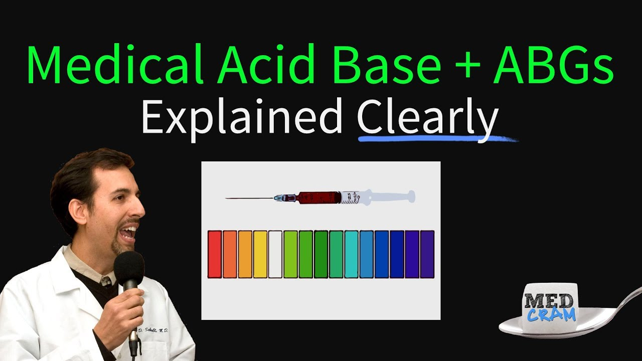 Medical Acid Base and ABGs Explained Clearly by MedCram.com