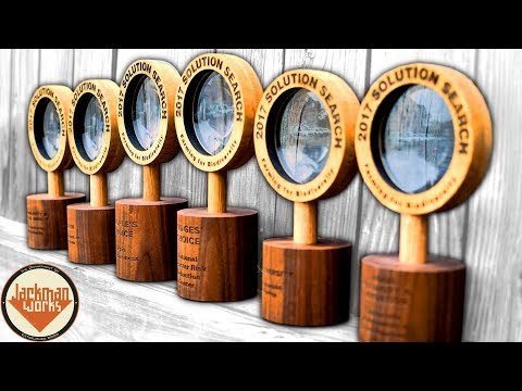 (Lasers & Lathe) Wooden Magnifying Glasses - Corporate Awards