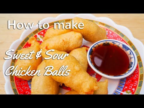 How to make SWEET AND SOUR CHICKEN BALLS Chinese Takeaway Style