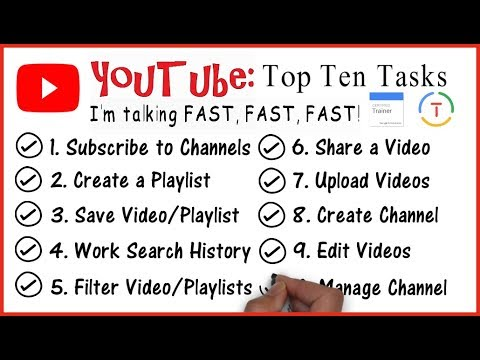 YouTube 2018: Top 10 Tasks (Google Educator)