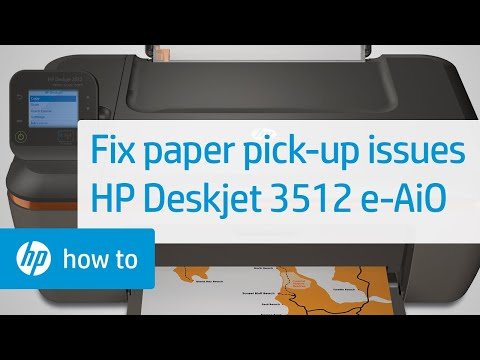 Fixing Paper Pick Up Issues - HP Deskjet 3512 e-All-in-One Printer