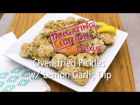 Yummy + Share: Oven-Fried Pickles with Lemon Garlic Dip