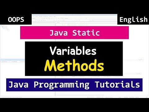 Static Keyword, Methods, Variables | Java OOPS Video Tutorials for Beginners