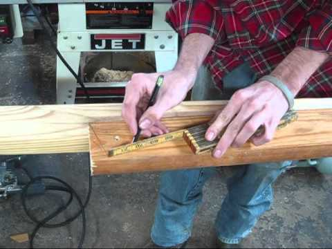 Cutting hip rafters with speed square
