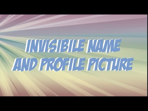 How to get an invisible profile and username on discord?